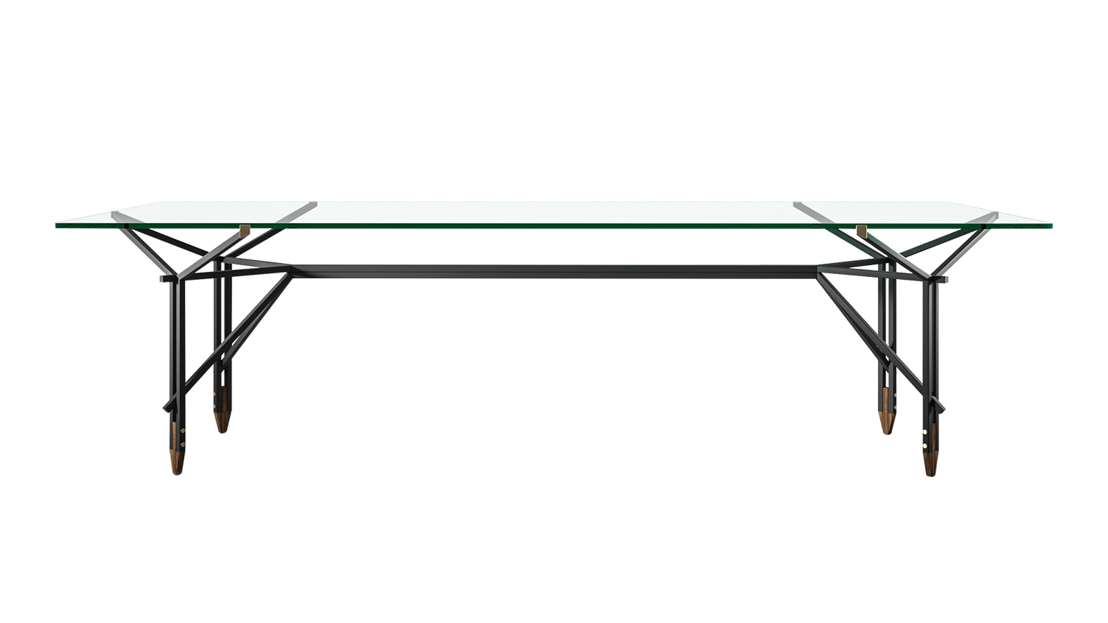 """Ico Parisi, a design egyik 20. századi mesterének egyik főműve az Olimpino asztal. A """"maestro"""" életműve előtt tisztelgett a Cassina, amikor 2020-ban újraálmodta a bútort. A Y formák játékos hálója cseppet sem vonja el az enteriőr többi szereplőjéről a rivaldafényt, mégis kortalan dívaként tündököl, melyre ragyogyó üveglapja is rásegít. Az Olimpino eegáns, légies, mégis nyomatékos jelenség, melyre minden designrajongónak szüksége van."""