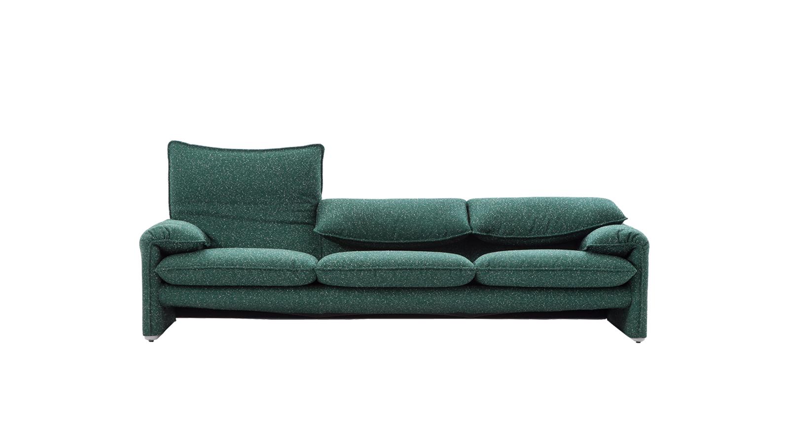 A Cassina nemzetközi sikert arató kanapéja a Maralunga. Hívogató, kellemes formái mellett hajlítható háttámlája tette best-sellerré, mely lecsukva fejtámaszként is használható. 40. évfordulóját azzal ünnepelték 2014-ben, hogy modern kárpitozást kapott. Tapasztalja meg Ön is az inonikus designtárgy kényeztetését!