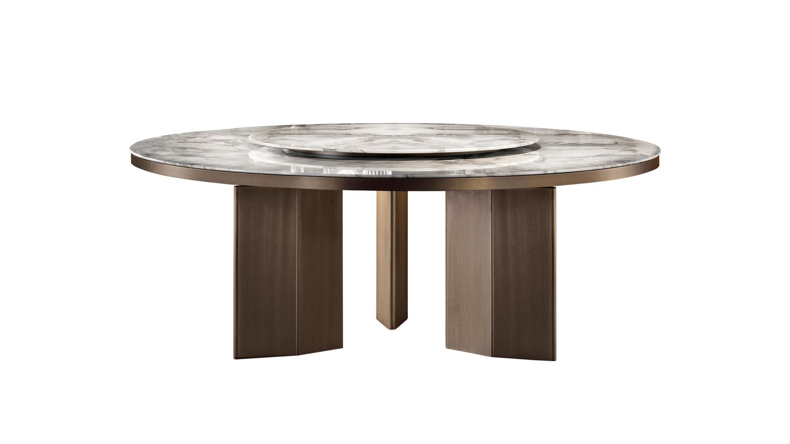 A szervírozás és a játékos közös étkezések következő lépcsőfoka a Morgan Marble asztal, mely forgatható felső lapjával megkönnyíti az ételek és italok átnyújtását. A kortárs design könnyedségét és a márvány klasszikus szépségét ötvöző étkezőasztal a luxus hírnöke.