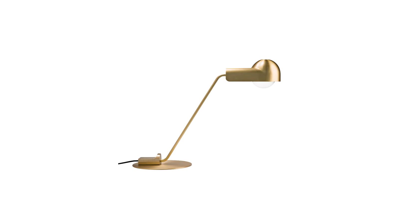 A lámpát Joe Colombo tervezte 1965-ben, ami hűen tükrözi designról való filozófiáját. Szerinte egy tárgynak funkcionálisnak kell lennie, flexibilisnek, hogy a sokféle módon lehessen használni, anyaga legyen kiváló minőségű, a gyártási technológia pedig a lehető legmodernebb. Mindez jellemzi a Domo asztali lámpát is. A tervező éles vonalak helyett sok alkotásánál lágyabb, gömbölydedebb formákhoz nyúlt, ez jellemzi ezt a darabot is.
