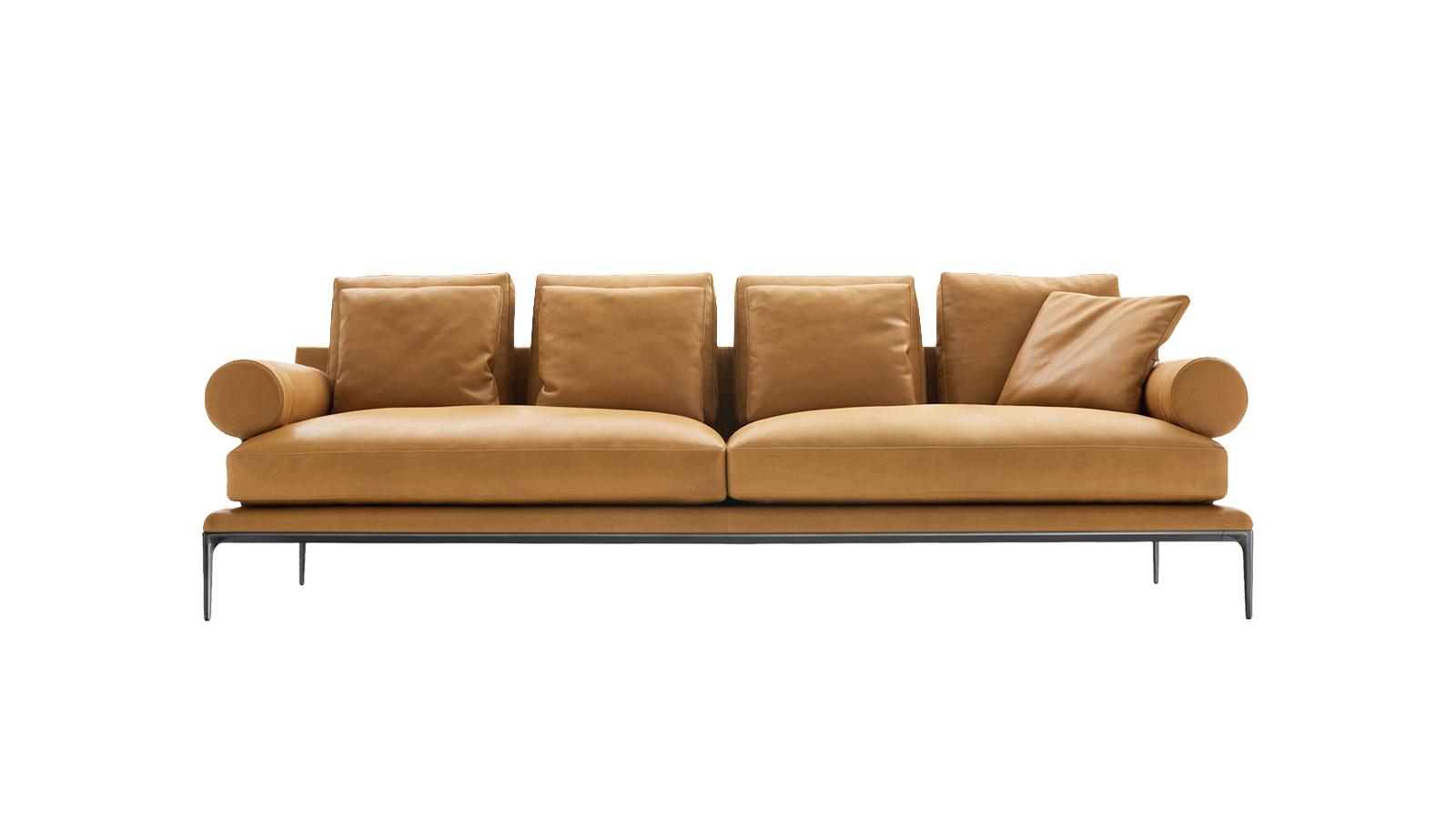 Az Atoll nem véletlenül díjnyertes kanapé: úgy képviseli a kortárs design letisztult értékeit, hogy újragondolja a tradícionális formákat. Sokoldalúságára mi sem jobb példa, minthogy a formális találkozóktól egészen a sziesztázásig számos pillanatban helyt áll. Mindez a mozgatható részeknek is köszönhető, melyek közül a bőrszíjakkal rögzített párnák kivételesen egyedi megjelenést kölcsönöznek a bútornak.