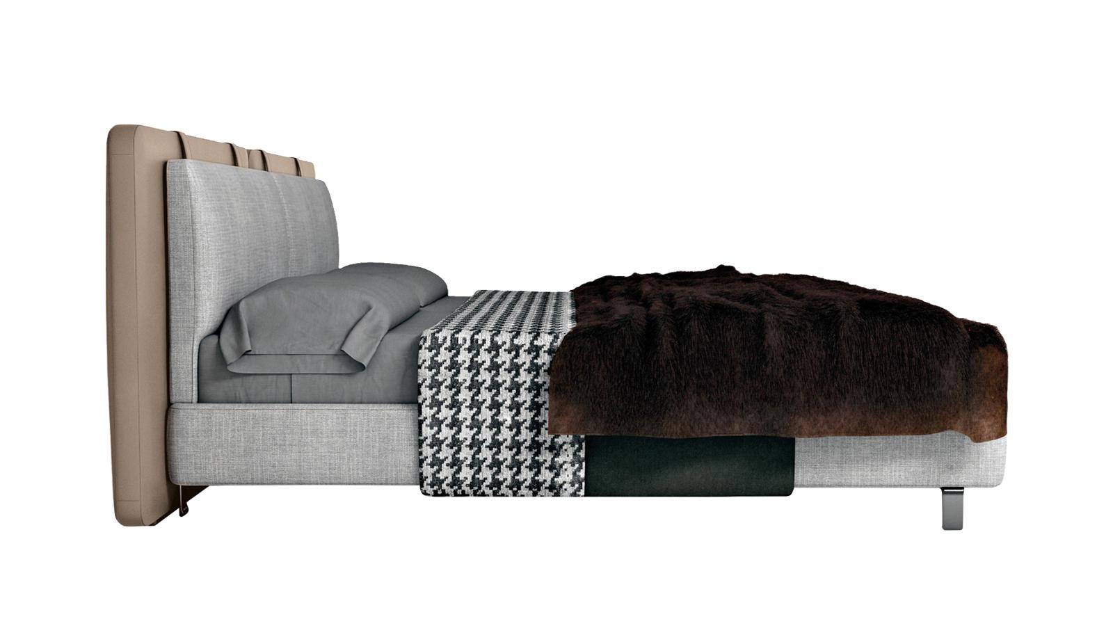 A Minotti Tatlin ágya a csúcsminőségű bőrbútorok atmoszféráját idézi mesteri, precíz kézműves kivitelezésével. A lágy vonalak és a gondosan megválasztott anyagok finom eleganciát hoznak létre. Az ágy elszigetelő magasított fejtámlának köszönhetően privát és nyugodt tere az alvásnak, a támlára rögzített bőrszíj pántok pedig a biztonságérzetet erősítik használójában. A Tatlin a meghittség tárgyi megtestesítője - pillanatok alatt otthonos és lakályos lesz tőle a hálószoba.