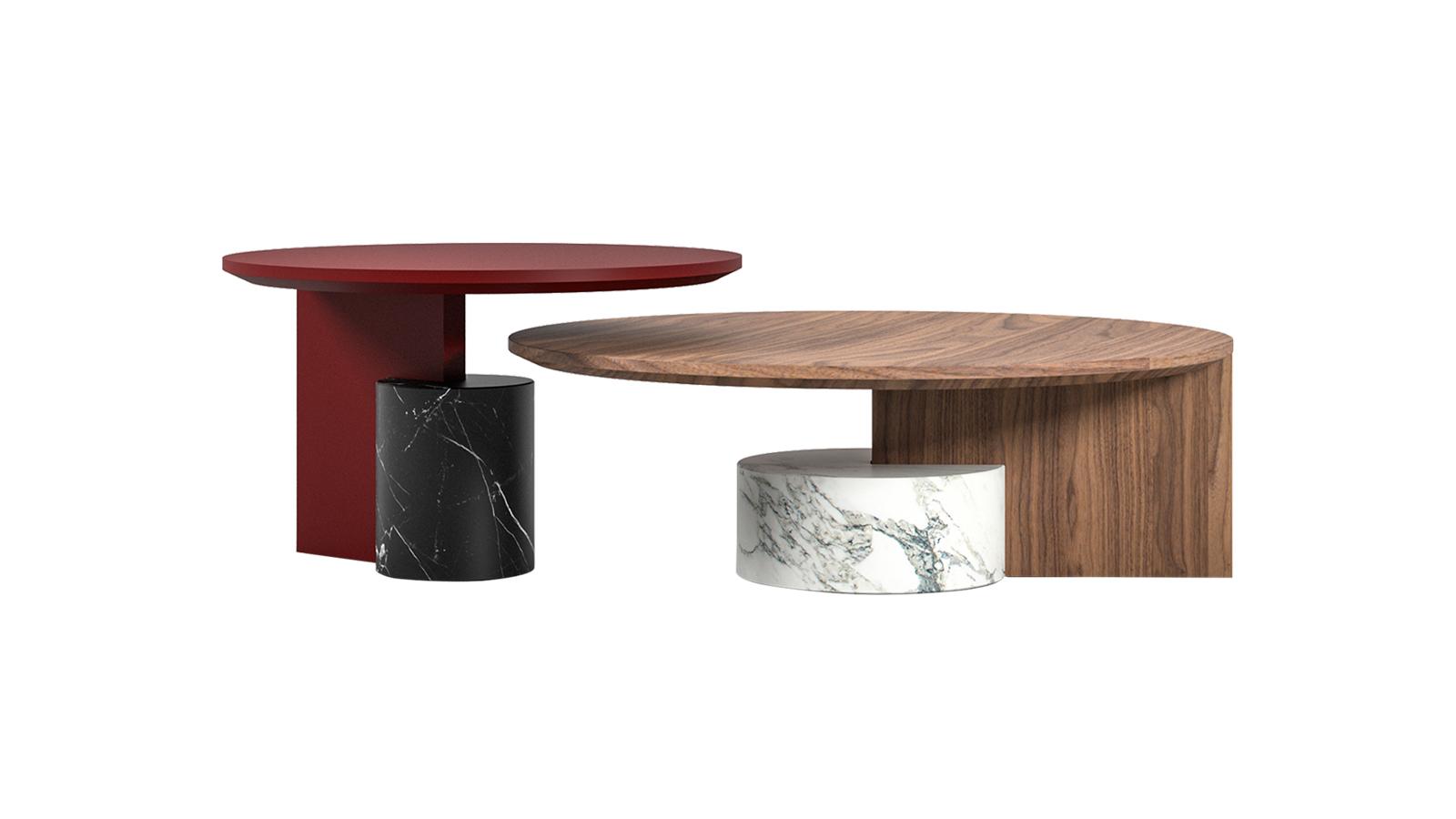 A Sengu dohányzóasztal a fa és márvány egyedi találkozása. Harmóniáját meglepő módon a kerek és szögletes formák ellentéte szüli. Bohókás jelenléte tökéletes egyensúlyt képez a visszafogott Sengu kanapéval.