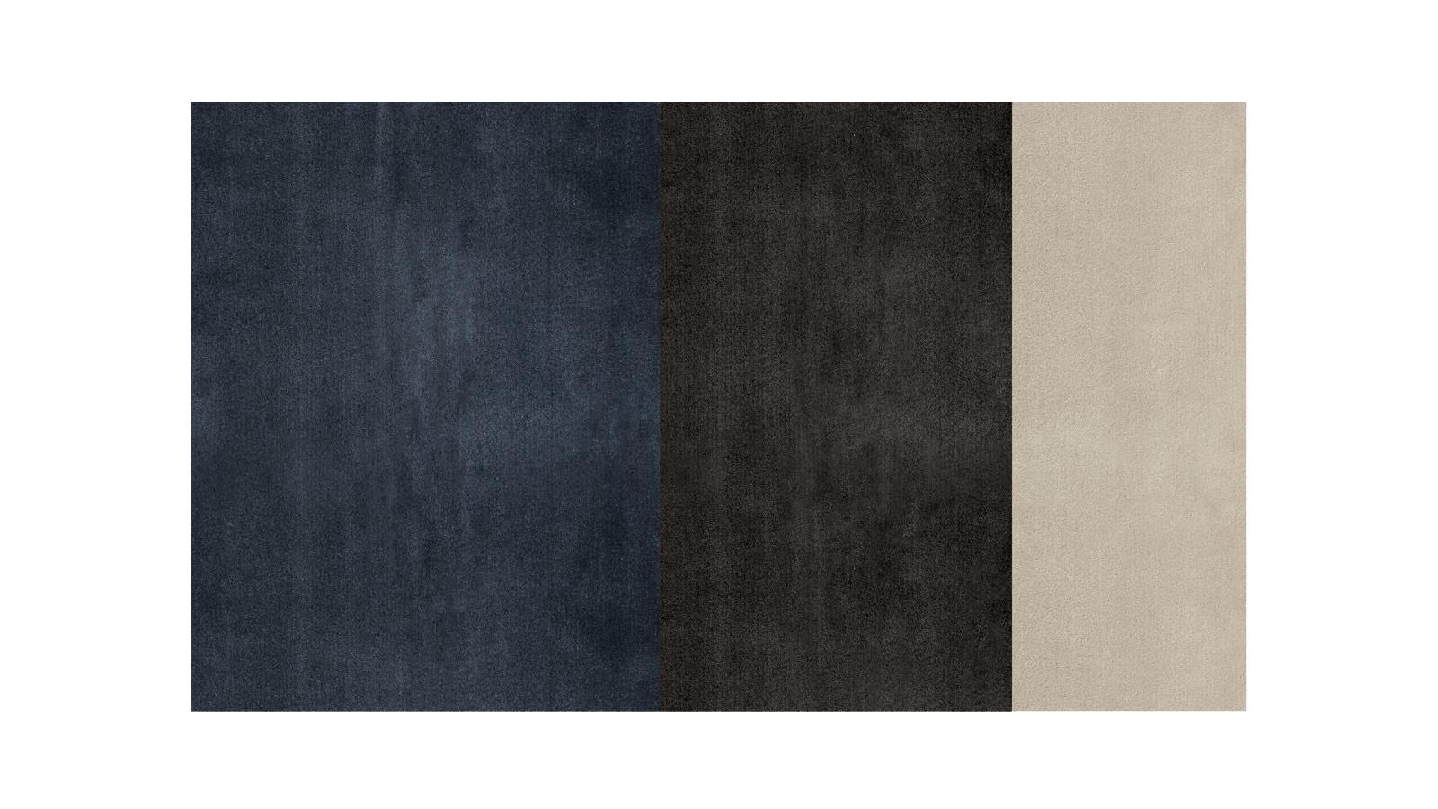 Kontrasztokon alapuló színkombinációk, vízszintes csíkozás és nagy, egyszínű felületek: a Dibbets Flag szőnyegek tökéletesen kiegészítik a letisztult, elegáns belső tereket, egyfajta modern hátteret biztosítva a minimalista bútorok számára.