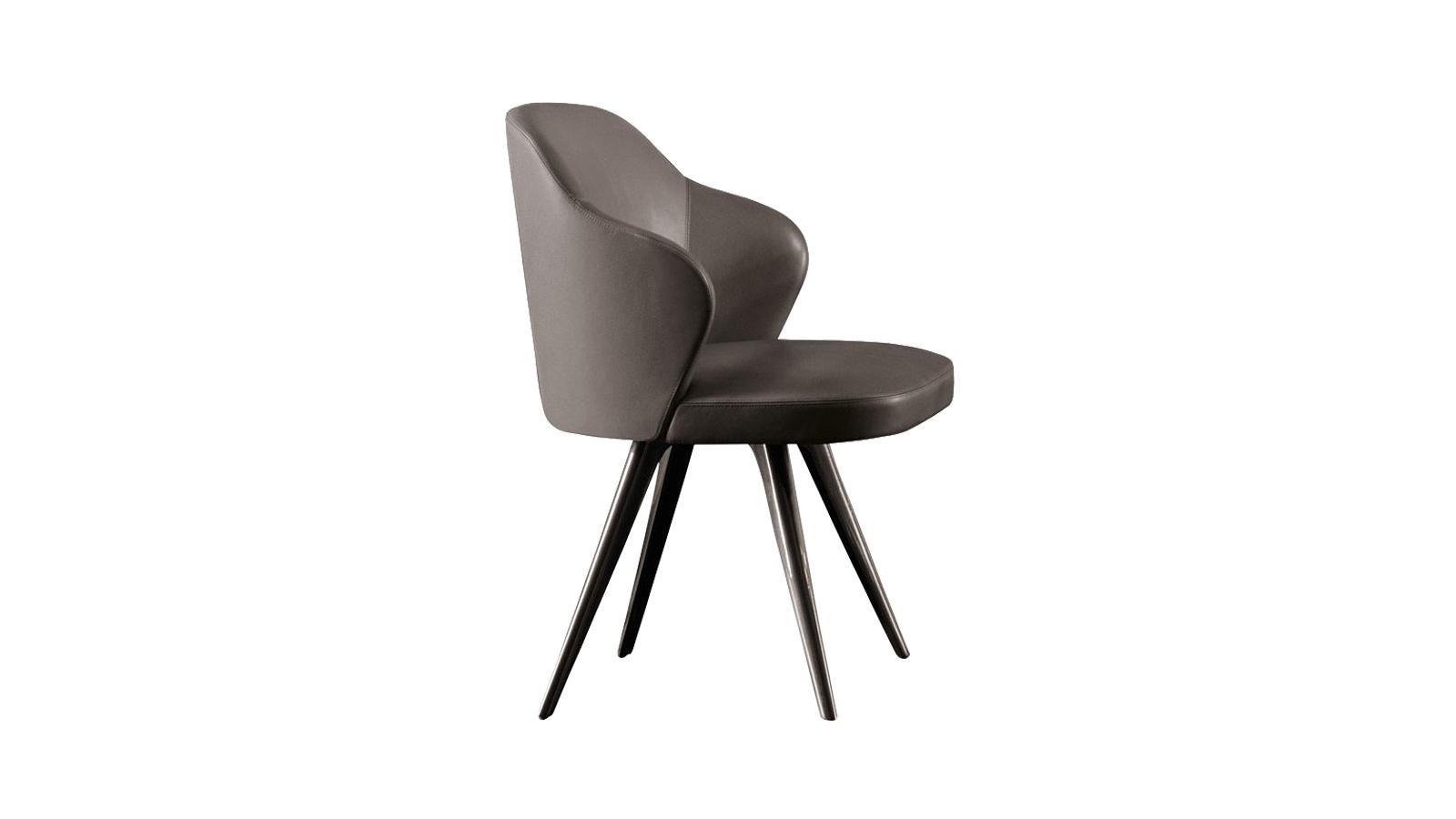 Felgyorsult világunk és zajos hétköznapjaink ellenszere a Leslie. Az intimitás és védelem érzetét nyújtó fotelcsalád a formális elegancia és a hívogató családiasság kombinációja. Megkülönböztető jellemzői a pontos arányok és a testre szabott felépítés, amely az ergonomikus formák és a kárpitozás magas minőségében is megmutatkozik. Kifinomult eleganciájának hála irodai, showroom és otthoni környezetben is betölti funkcióját.