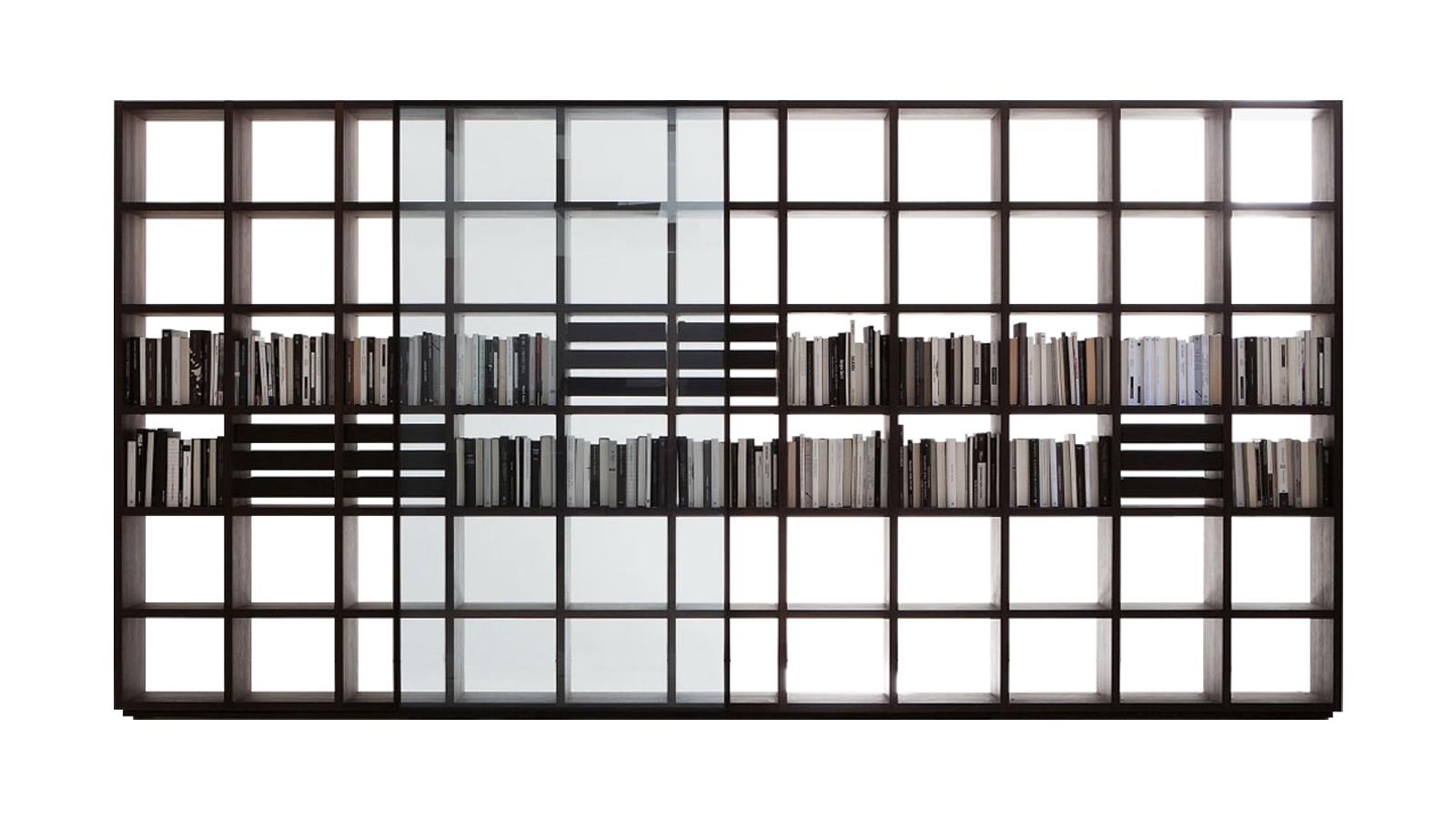 Sokoldalúság, flexibilitás és intelligencia jellemzi a Piero Lissoni tervezte System Modular polcrendszert, melynek darabjai állhatnak térben, elválasztó elemként, de futhatnak falak mentén is, aszerint, hogy az adott térbe hogyan illik leginkább. Variációi és kiegészítői között szerepel tv-takaró elem, eltolható üvegpanel vagy a magasabban elhelyezkedő polcokhoz vezető létra is. Variabilitása miatt tökéletes választás nappaliba és az otthoni iroda bútoraként is.