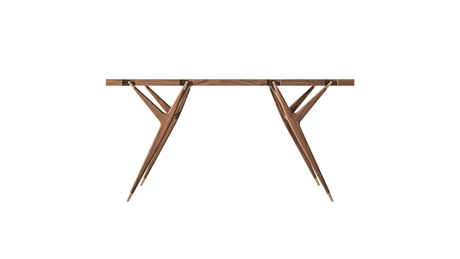 Ico Parisi 1947-ben tervezte egy megrendelőjének ezt a különleges konzolasztalkát, ami ebben az évben kezdett gyártani a Cassina. Különleges biomorf, faágakat imitáló szerkezete, y-alakú lábai igazi kihívást jelentettek az asztalos csapatnak, és az eredmény tökéletes lett. Bár az asztal karakteres, valódi egyéniség, mégis minden helyiségben el lehet képzelni. Kőris- és diófából rendelhető, amihez jól illenek a kis fém kiegészítők, a lábak végein.
