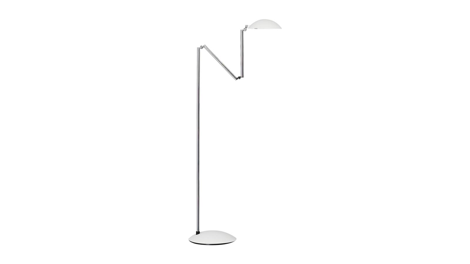 Herbert H. Schultes lámpáinak különlegessége, hogy ugyan három ponton is mozgathatóak a vázak, a vezetékek mégis mindvégig rejtve maradnak. A több csukló miatt szinte bármilyen szögben beállítható a búra. Matt fekete, fehér és fényes króm színben is elérhető az Orbis lámpacsalád álló- és asztali változata is.
