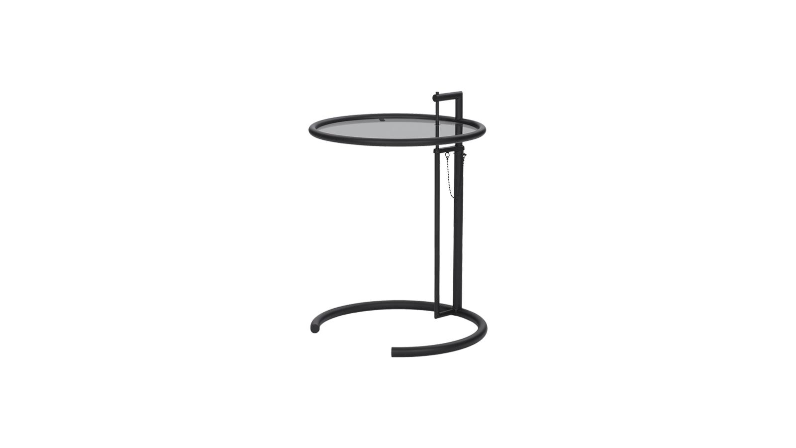 Egy igazi klasszikus, mely alighanem a legismertebb lerakóasztal a designtörténelemben: ez az E 1027, az Eileen Gray által saját maga számára tervezett darab. Az állítható magasságú, többféle színű szerkezettel és lerakófelületekkel elérhető darab a modern design egyik jelképe, mely a mai enteriőrökben is kiválóan működik.