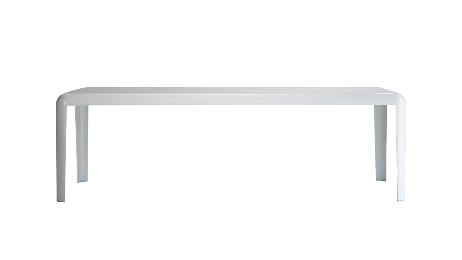 A Porro asztala, Piero Lissoni designer alkotása egyetlen nagy fém lapból, hajlítással készülő darab, mely több méretben, magasságban és többféle felülettel is elérhető.