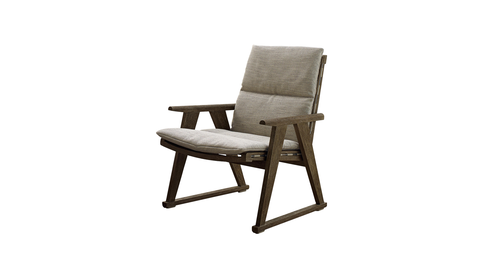 Az Antonio Citterio által tervezett Gio kortárs sorozat klasszikus elemekkel, amelyet a designer a szabadban való kényelemnek szentelt. A bútorok tikfa szerkezetekből állnak össze, speciális antik szürke színnel, amely a fának különleges ezüstszürke megjelenést kölcsönöz. A Gio karfa speicális kialakításának és anyagkezelésének hála ellenáll az időjárásnak, az UV fénynek, a klóros víznek, valamint a sós tengeri permetnek.