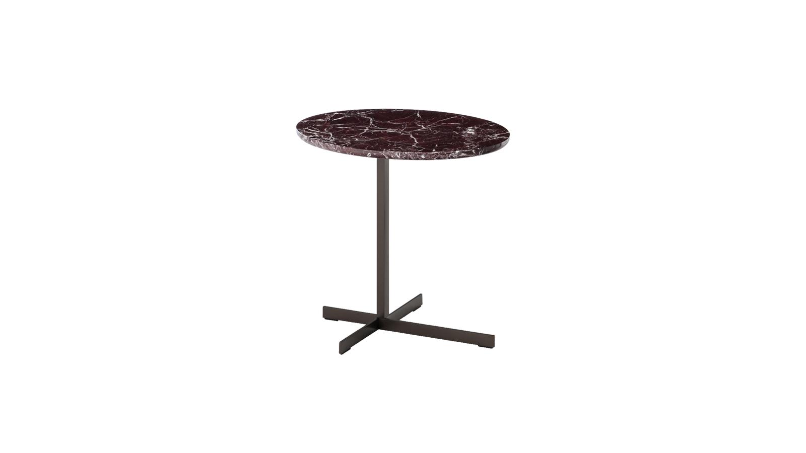 """A Joy """"Jut Out"""" asztalokat azoknak ajánljuk, akik a klasszikus elegancia hívei, ugyanakkor a kortárs megoldások iránt is rajonganak, és nem félnek kísérletezni. A legkülönlegesebb márványok és az X alakú fémlábak párosa felejthetetlen látványt nyújt!"""