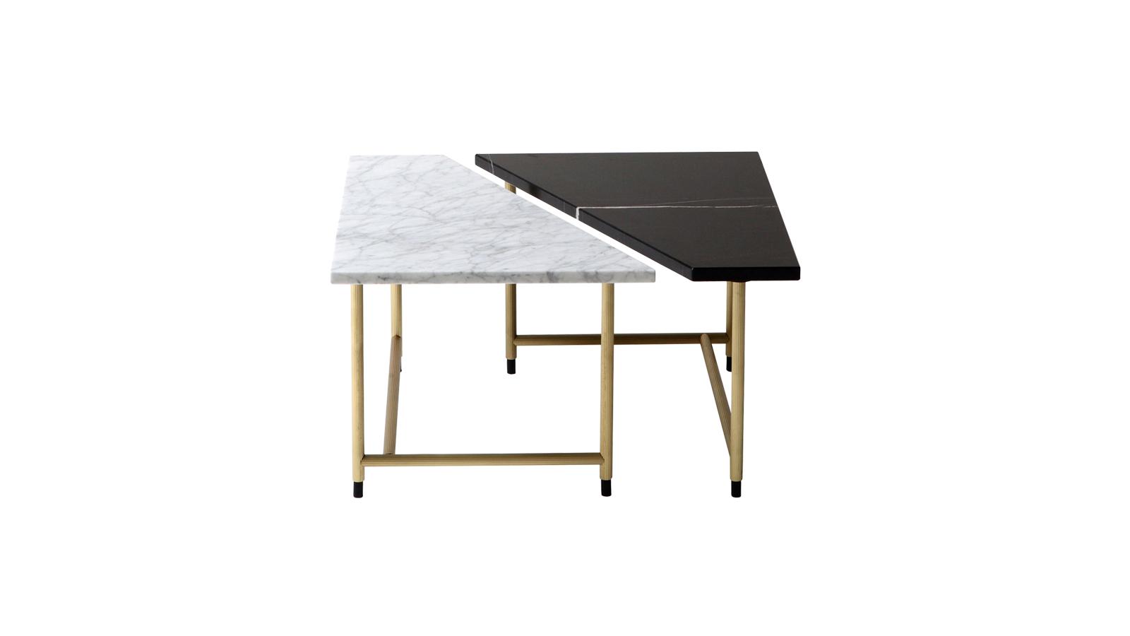 A GamFratesi tervezőpárost a geometria és a minőségi, nemes anyagok iránti vonzalom vezette a dohányzóasztal-kollekció tervezésében, amit nem kisebb mesterről neveztek el, mint a reneszánsz építészfejedelemről, Palladioról. A réz vázon álló világos és sötét márványlapokkal gyártott asztalkák megrendelhetők kör és trapéz formában is. Utóbbiak állhatnak magukban, vagy téglalap formát kiadva, csatlakozhatnak is egymáshoz.